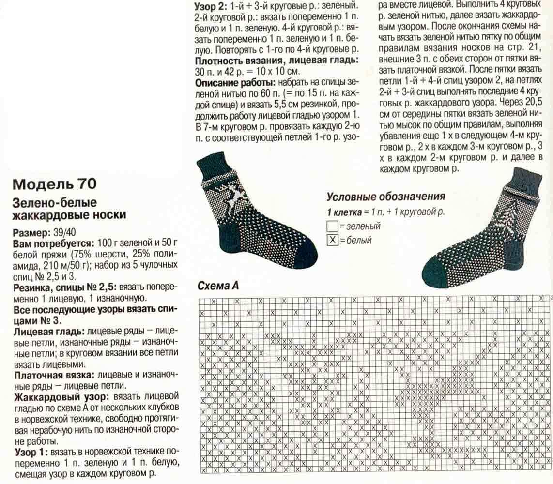 Вязание спицами жаккардовые узоры для носков схемы 79