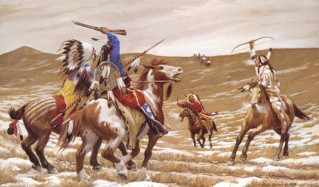The Taunt, 1993, Lakota & Cheyenne